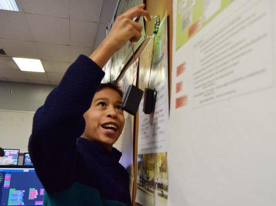 Students attending Mt. San Jacinto College Coding and Robotics Camp