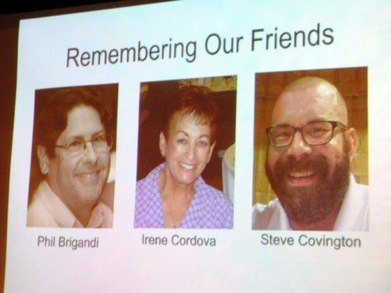 Photo of three previous board members: Phil Brigandi, Steve Covington and Irene Cordova