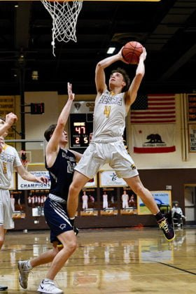 Temecula Valley High School's Ethyn Woods basketball player