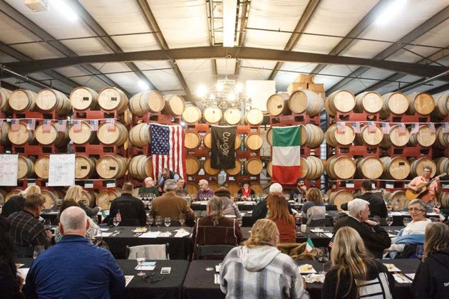 Guests gather at Cougar Winery