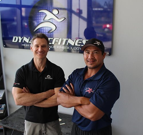 Trainers Kevin Duenas and Brian Richardson
