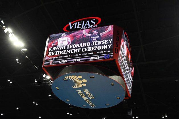 Viejas Arena scoreboard