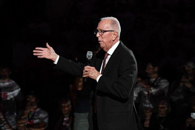 Former Aztec head basketball coach Steve Fisher