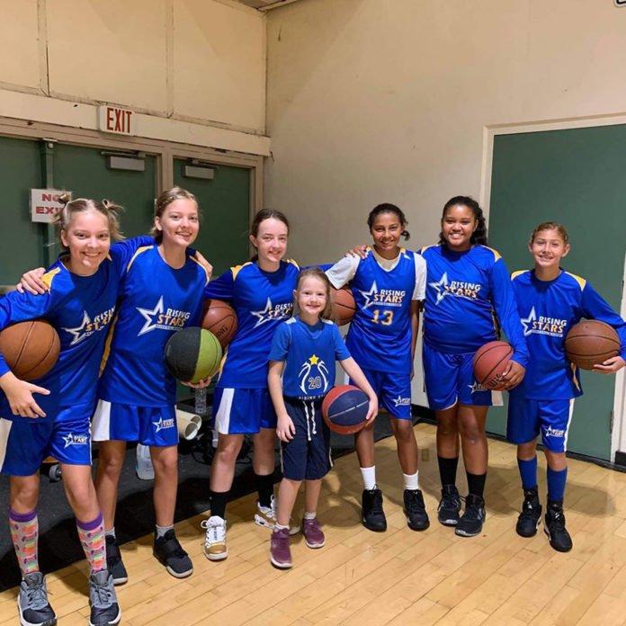 Rising Stars youth basketball players