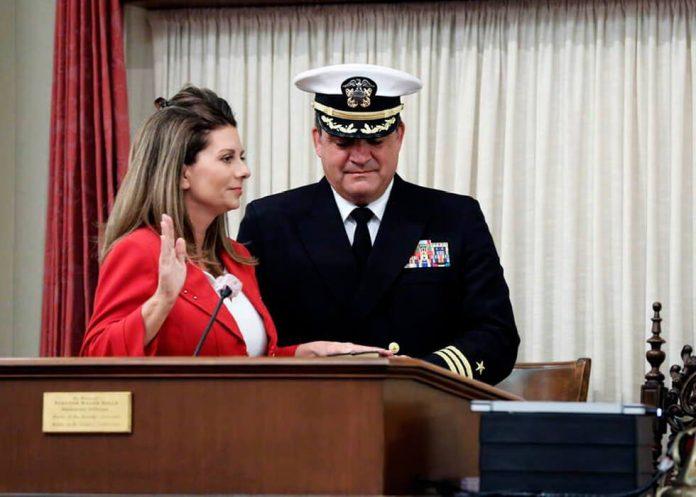Melissa Melendez taking oath of office